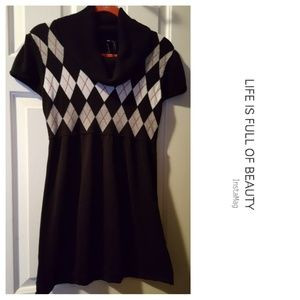TAKE OUT Cowl Neck Tunic Sweater Dress